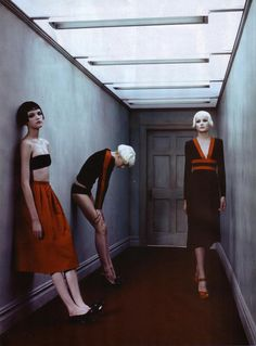 """lelaid: """"Vlada Roslyakova, Solange Wilvert & Lily Donaldson in Performance for Vogue Paris, August 2005 Shot by Steven Klein Styled by Marie-Amélie Sauvé """" Fashion Poses, Fashion Shoot, Editorial Fashion, Fashion Art, Lily Donaldson, Lara Stone, Vogue Photography, Editorial Photography, Photography Ideas"""