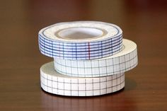 Japanese Washi Tape Blue Green Brown Check 12mm by PrettyTape, $8.00