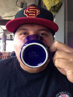 #Bow tie spotted!! Sammy R. enjoying his coffee at The Kettle, Manhattan Beach, CA.