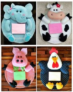 Imagen relacionada Pig Crafts, Felt Crafts, Crafts To Sell, Sewing Crafts, Diy And Crafts, Sewing Projects, Crafts For Kids, Felt Coasters, Felt Patterns