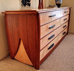 bubinga & curly maple dresser 6