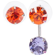 Joomi Lim Orange Digital Tribe Asymmetrical Swarovski Stud Earrings (470 BRL) ❤ liked on Polyvore featuring jewelry, earrings, sparkly earrings, punk jewelry, swarovski crystal jewelry, twist jewelry and asymmetrical earrings