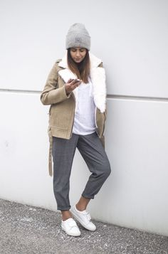 Outfit | How To Wear A Shearling Jacket This Spring
