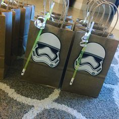 Storm trooper & light saber goody bags