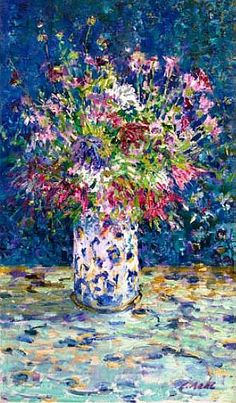 Charles Neal Still Life with Mixed Summer Flowers 2012