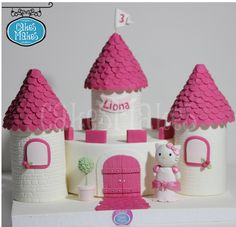 Hello Kitty, Birthday cake, Castle cake
