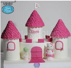 Hello Kitty, Birthday cake, Castle cake