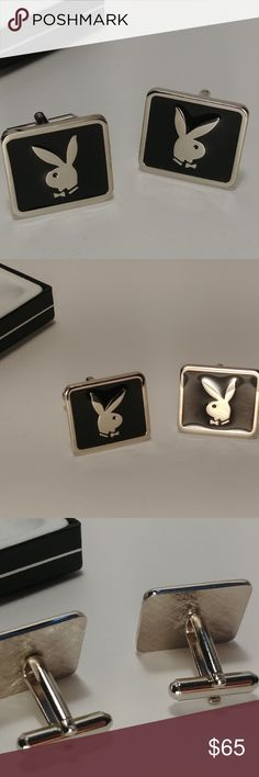 Shop Men's PLAYBOY Black Silver size OS Cuff Links at a discounted price at Poshmark. Description: Vintage Playboy cufflinks by Colibri of London. In great shape.