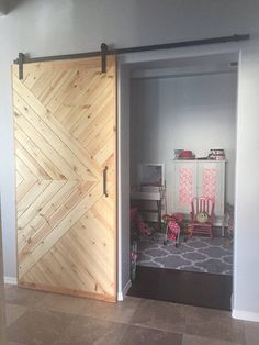 Sliding Barn Door Custom Modern Vintage Rustic Reclaimed Options - April 27 2019 at Cafe Industrial, Industrial Interiors, Industrial Design, Industrial Bookshelf, White Industrial, Industrial Restaurant, Industrial Apartment, Industrial Bathroom, Industrial Farmhouse