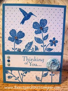 Thinking of you | Sympathy | Wildflower Meadow | Beauty and the Stamper - Jean Piersanti - Independent Stampin' Up! Demonstrator