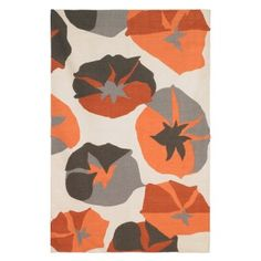 Big Floral Rug by Dwellstudio. Decor your floor! These graphic, yet...