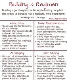 Building a natural hair regimen More Tips on how to do natural hair care ? Natural Hair Regimen, Natural Hair Care Tips, Curly Hair Tips, Curly Hair Styles, Natural Hair Styles, Relaxed Hair Regimen, 4c Hair, Hair Updo, 3c Natural Hair