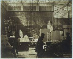 Philip Henry Delamotte, Storeroom with Artisans and Plaster Casts, Crystal Palace, 1852 Fine Art Prints, Framed Prints, Canvas Prints, Plaster Cast, Thing 1, Expositions, Crystal Palace, Heritage Image, Photo Mugs