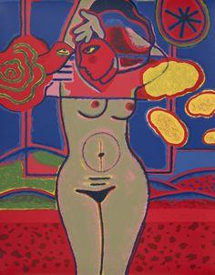 """""""Fenêtre sur le paysage"""" Peinture de l'artiste néerlandais Corneille -1995-"""