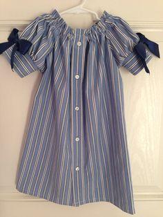 Girls Repurposed Men's Shirt Dress Size 3/4 by HaleyLaine on Etsy, $20.00