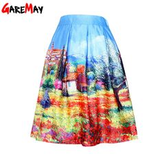 Saia Rodada Cintura Alta Womens 2016 Hepburn Retro Skirts Summer Autumn Black Floral Print Hight Waist Midi Pleated Skirt Y307-in Skirts from Women's Clothing & Accessories on Aliexpress.com | Alibaba Group