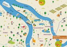 le plan de Bordeaux Métropole par deux degrés et Guillaumit (pour l'office de tourisme de Bordeaux Métropole)