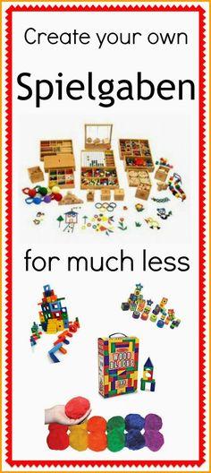 Create your own Spielgaben for less! #DIY #Spielgaben #Toys #educational.