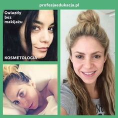 Słuchaczki na kierunku #KOSMETYKA przygotowujemy do wykonywania perfekcyjnych #makijaży. Tymczasem gwiazdy coraz częściej pokazują się bez makijażu. Potraficie je rozpoznać? :D www.profesjaedukacja.pl