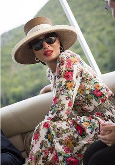 Sheikha Mozah, August 8, 2015   Royal Hats