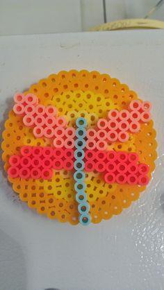 Perler beads dragonfly