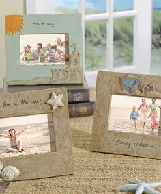 Beach Message Picture Frame Set
