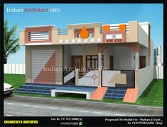 MR. Mohan Ji Dash , Chittorgarh | Indian Architect House Elevation, Front Elevation, Modern Architectural Styles, Brick Garden, House Front Design, Futuristic Design, Ground Floor, Bricks, Modern Contemporary