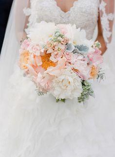 elegant bouquet // photo by Valentina Glidden // http://ruffledblog.com/elegant-orange-county-wedding