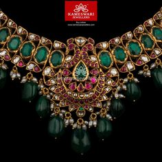 Jewel For Eternity! Real Gold Jewelry, Gold Jewellery Design, Body Jewellery, Indian Jewelry, Necklace Online, Necklace Designs, Pendant Jewelry, Fashion Jewelry, Jewels