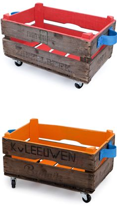 repurposed fruit crates