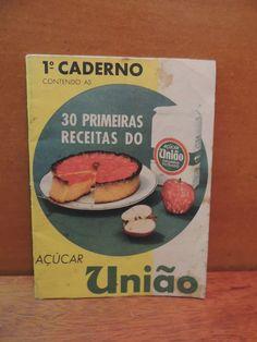 Livro 1º Caderno 30 Primeiras Receitas Açucar União 50 Anos - R$ 30,00 no…
