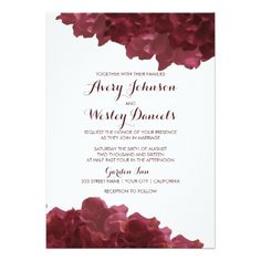 Wine Colored Floral Wedding Invitation Check out this artist-made wedding invitations not found at your local printer. All customizable with your own personal information. Get it done fast. Why wait? #weddinginvitation #weddingplanning #modernwedding #weddingstyle #weddingdetails #weddinginvitations #weddingdesign #savethedate #bridetobe #bridetobe2018 #weddinginspiration #weddingplanningadvice #planaweddingin6months