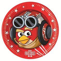 Papierowe talerzyki z Angry Birds.