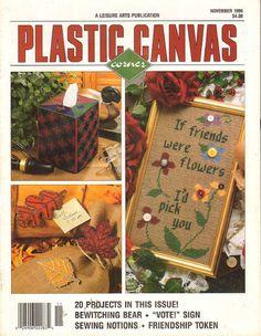 Plastic Canvas Corner Magazine 20 Designs Leisure by RomanceWriter