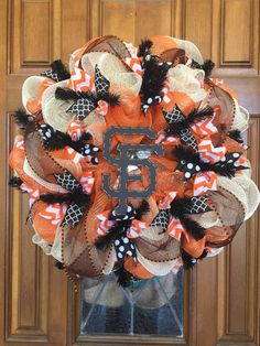 One of the SF Giants wreaths I made.