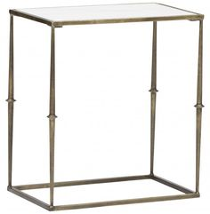 Glam Marble Top Side Table