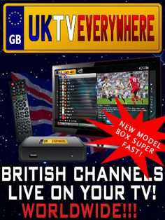 UK TV Everywhere STB-4c Telly streaming box. This magic box allows you to watch live British programming anywhere you live. I LOVE THIS!!! Now I can watch all my fave British shows!