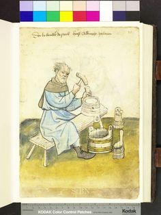 Albrecht (Albrecht), Pütner (Pütner; Büttner) [bucket maker], from Mendel Housebook, c. 1425