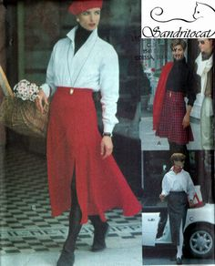Vintage 90s Very Easy Vogue 8204 Sport Flared Skirt by sandritocat