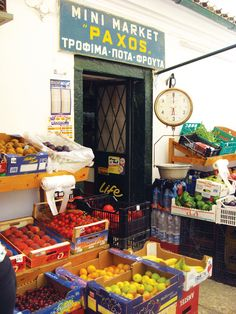 A #Greek mini market on Paxos, overflowing with fresh produce...