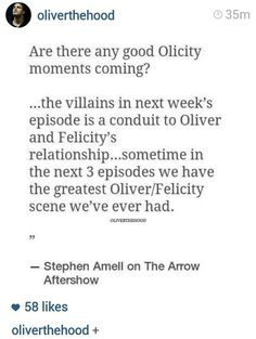 #Arrow WHEN IS THIS FROM??????????!!!!!!!!!!!!!!! SOMEBODY PLEASE TELL ME I NEED TO KNOW