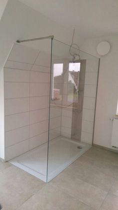 große Dusche als Walk-in-Lösung