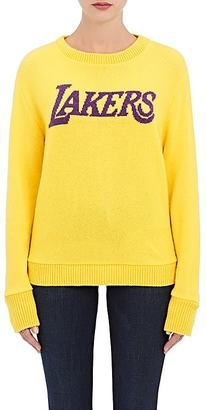 "Shop Now - >  https://api.shopstyle.com/action/apiVisitRetailer?id=606254377&pid=uid6996-25233114-59 The Elder Statesman X NBA Women's ""Lakers"" Cashmere Sweater  ..."