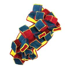 Mina Kang - 'mixture' brooch - ramie fabric