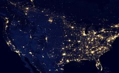 NORTH AMERICA.......NIGHT TIME SATELLITE IMAGES OF THE EARTH........FOR SPACE ...... BY SATELLITE NASA.............SOURCE REDFLAGDEALS.COM.........