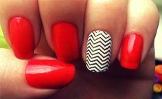 UofL nail art