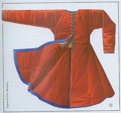 A nice artist rendering of a Kaftan, 14th C. and beyond.