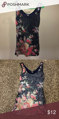 Wet Seal sequin tank Cute floral sequin tank, great for spring, excellent condition. Wet Seal Tops Tank Tops