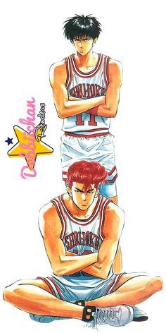 Slam Dunk Render by debbiichan on DeviantArt Manga Drawing, Manga Art, Anime Manga, Anime Guys, Slam Dunk Manga, Inoue Takehiko, Hottest Anime Characters, I Love Basketball, Cool Wallpapers For Phones