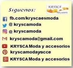 TIPS, NOTAS Y MÁS DE LA MODA - KRYSCA Moda y accesorios * LIKE  fb.com/kryscaesmoda Foto